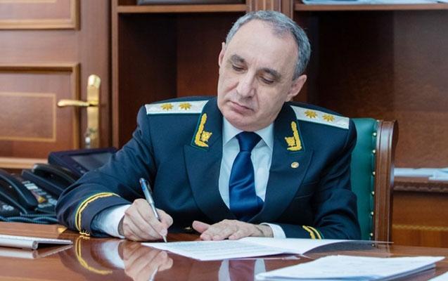 Baş prokuror: 'Arayik Arutunyan barəsində cinayət işi başlanıb'
